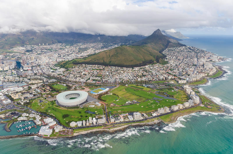 """Ideia aérea do †""""África do Sul de Cape Town imagem de stock"""