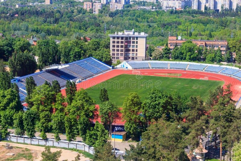 Ideia aérea do estádio do dínamo em Kharkiv, Ucrânia imagem de stock