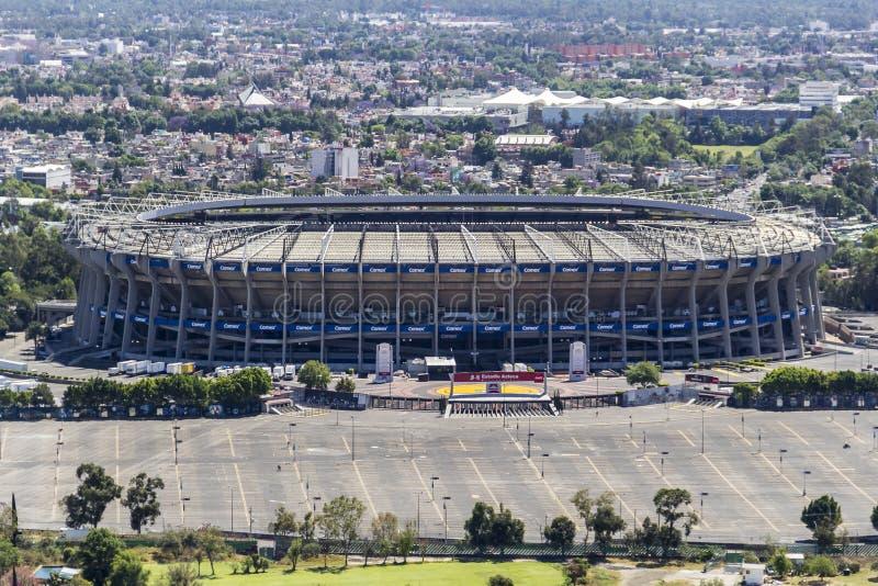 Ideia aérea do estádio de futebol do azteca do estadio imagens de stock