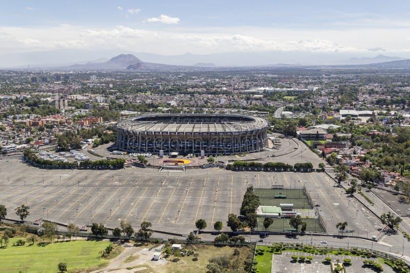 Ideia aérea do estádio de futebol do azteca do estadio foto de stock royalty free