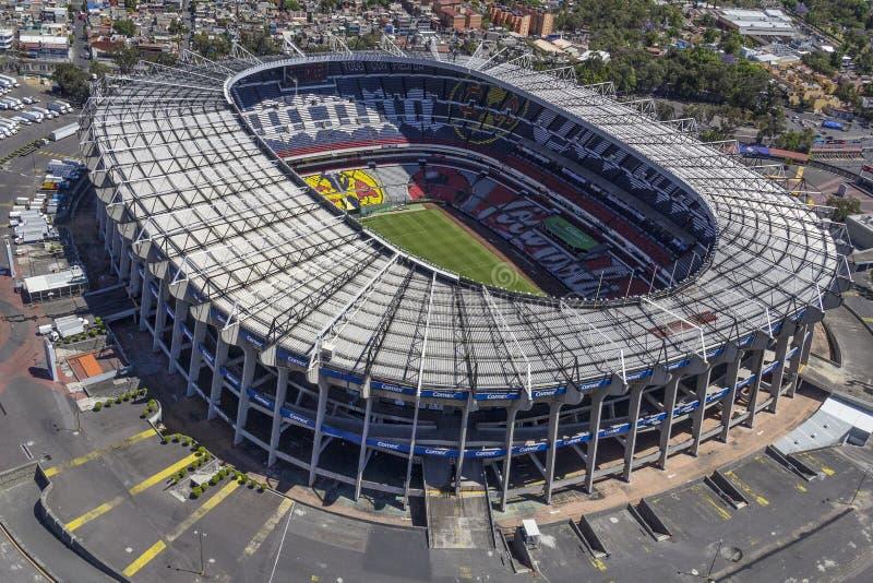 Ideia aérea do estádio do azteca do estadio imagens de stock royalty free