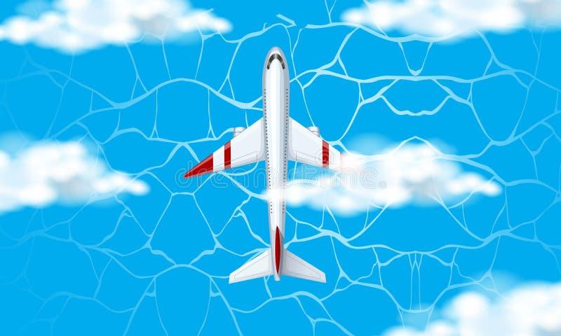 Ideia aérea do plano ilustração stock