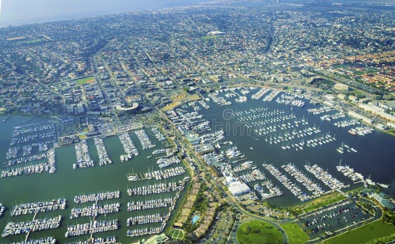 Ideia aérea do ponto Loma San Diego imagem de stock