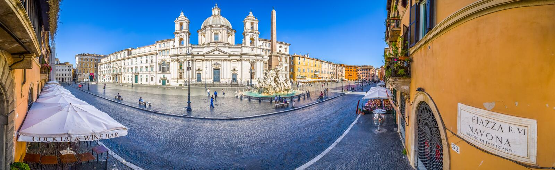 Ideia aérea do quadrado de Navona, praça Navona, em Roma, Itália fotos de stock royalty free