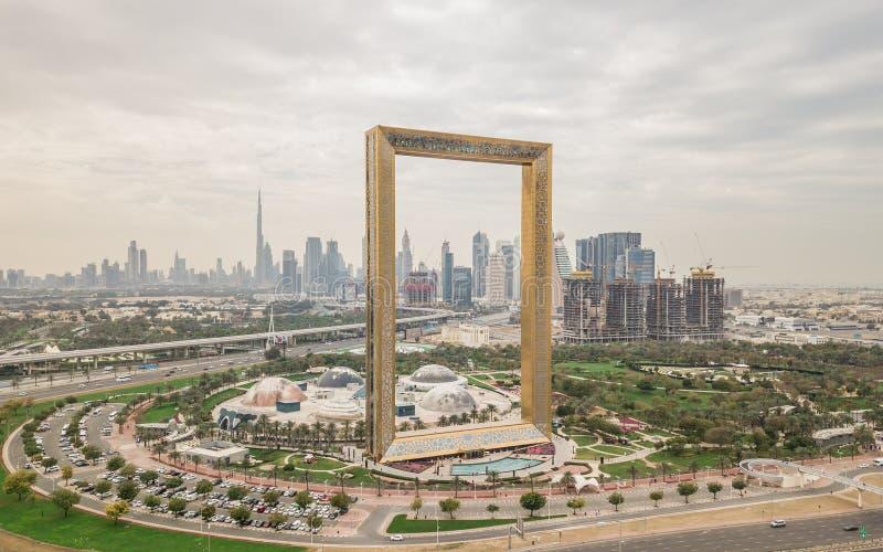 Ideia aérea do quadro de Dubai fotos de stock royalty free