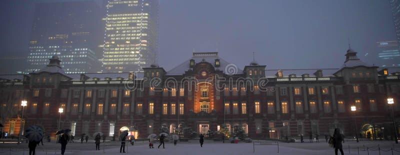 Ideia aérea do scape bonito da cidade da noite, Japão imagens de stock royalty free