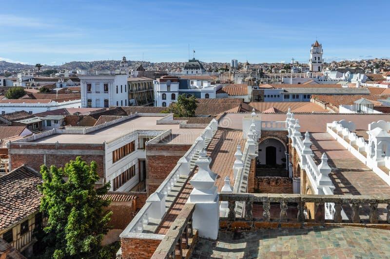 Ideia aérea do sucre, Bolívia foto de stock