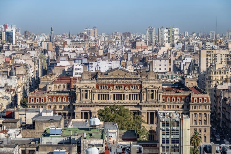 Ideia aérea do Tribunal de Argentina de Justiça supremo - Buenos Aires, Argentina imagens de stock royalty free