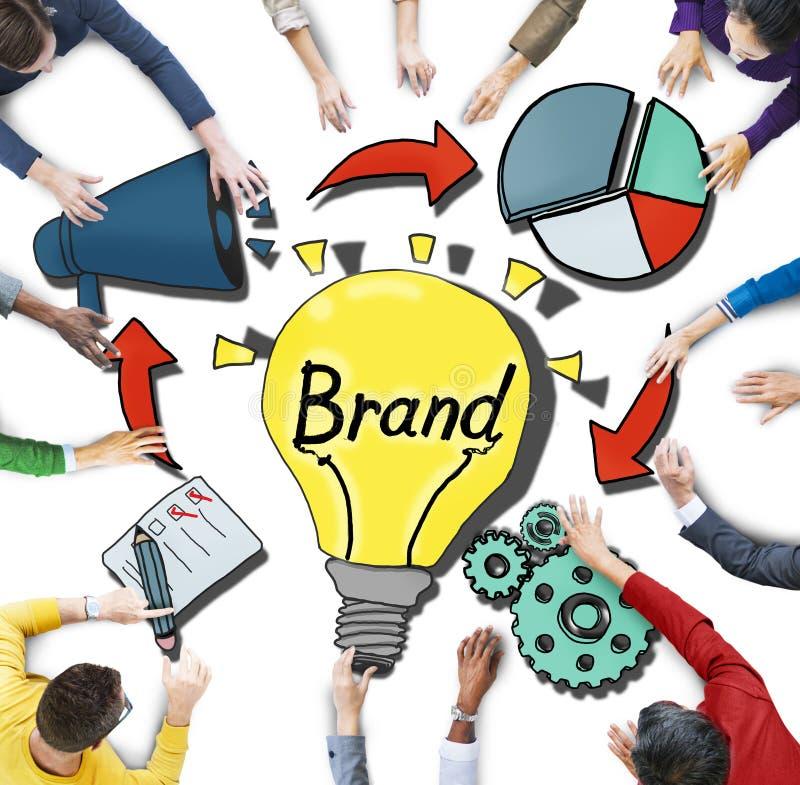 Ideia aérea dos executivos e de conceitos de marcagem com ferro quente ilustração royalty free