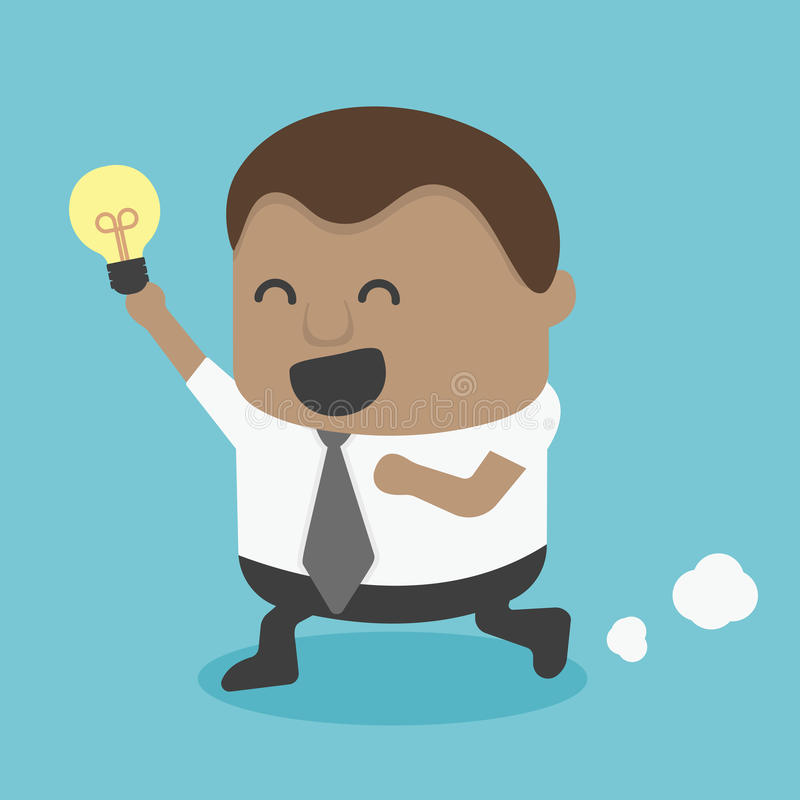 Ideia africana nova de Run Show do homem de negócios ilustração stock