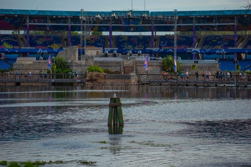 Ideia bonita do estádio de Bayside em Seaworld 1 foto de stock