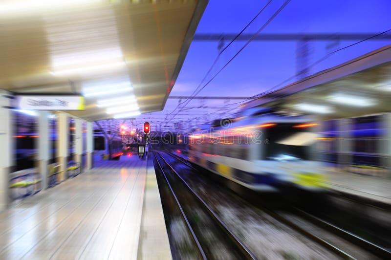 Ideia borrada da estação de trem de Santander imagem de stock royalty free