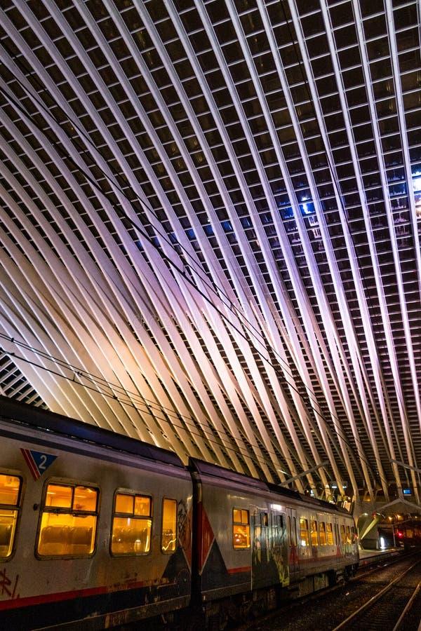 Ideia cênico da estação de trem de Liège fotos de stock