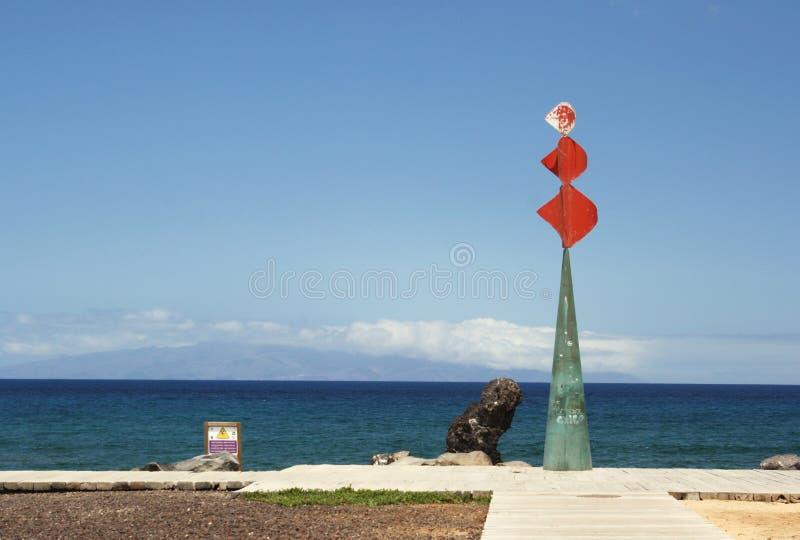 Ideia cênico de uma escultura em Tenerife fotos de stock royalty free
