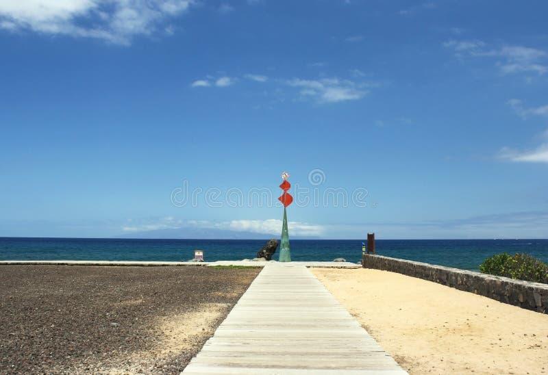 Ideia cênico de uma escultura na Espanha de Tenerife imagem de stock