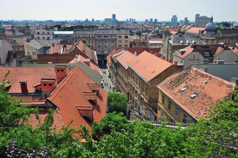 Ideia cênico do centro de cidade de Zagreb imagens de stock royalty free