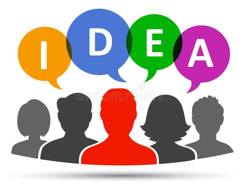 Ideia, conceito dos trabalhos de equipa - vetor ilustração do vetor