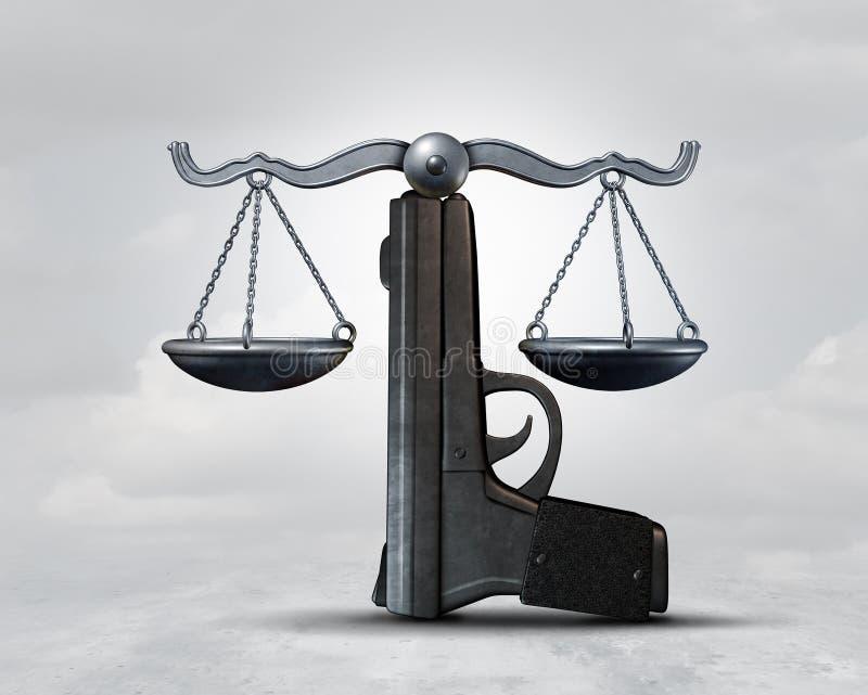 Ideia conceptual da lei da arma ilustração do vetor