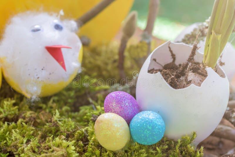 Ideia criativa da decoração no tempo da Páscoa foto de stock royalty free