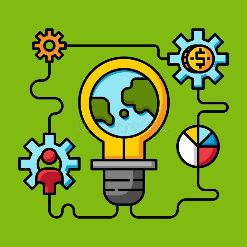 A ideia criativa da inovação, faz o dinheiro em linha ilustração royalty free
