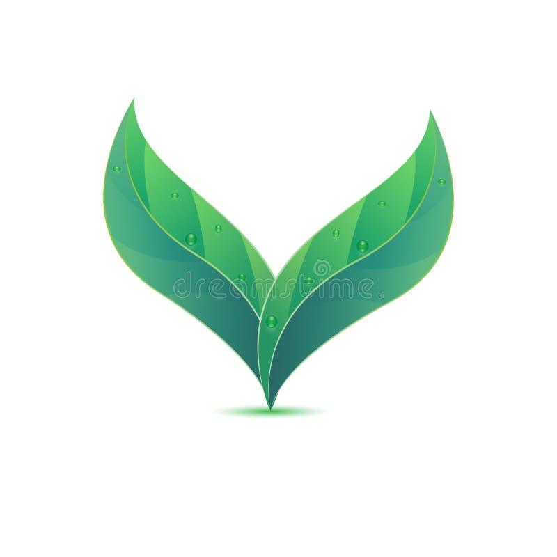 ideia criativa do projeto do logotipo da folha 3d ilustração do vetor