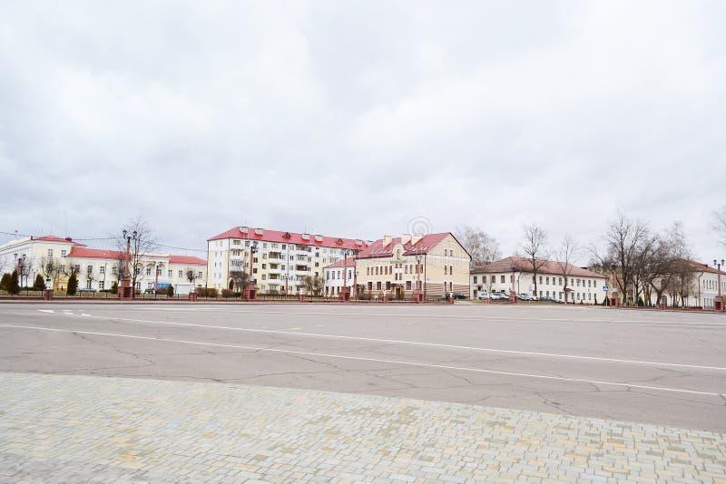Ideia da área central de Polotsk fotos de stock
