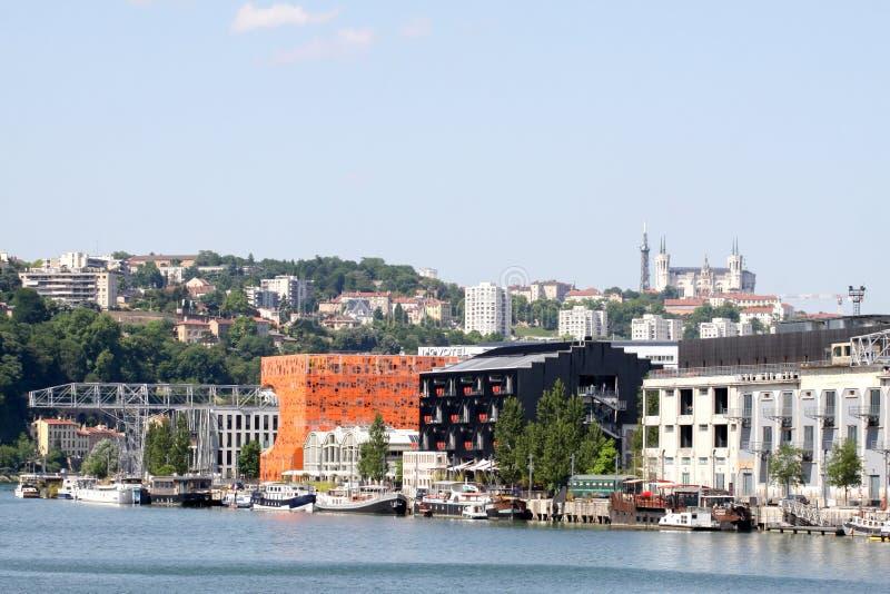 Ideia da afluência em Lyon, França imagem de stock