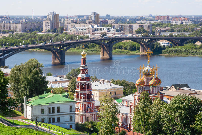 Ideia da arquitetura da cidade de Nizhny Novgorod imagem de stock