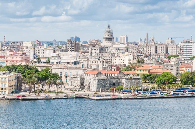 Ideia da arquitetura da cidade em Havana, Cuba fotos de stock royalty free