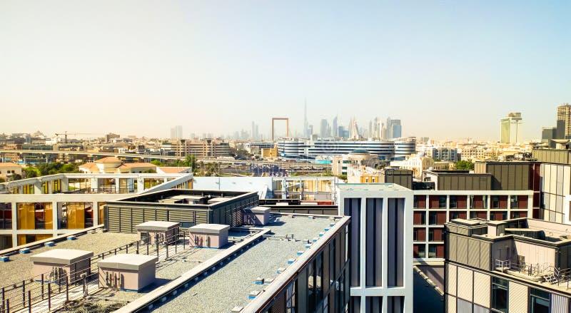 Ideia da cidade da manhã Dubai Em setembro de 2018 imagens de stock