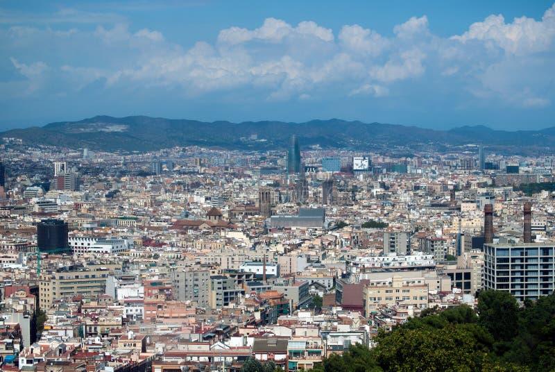 Ideia da cidade da skyline de Barcelona imagem de stock