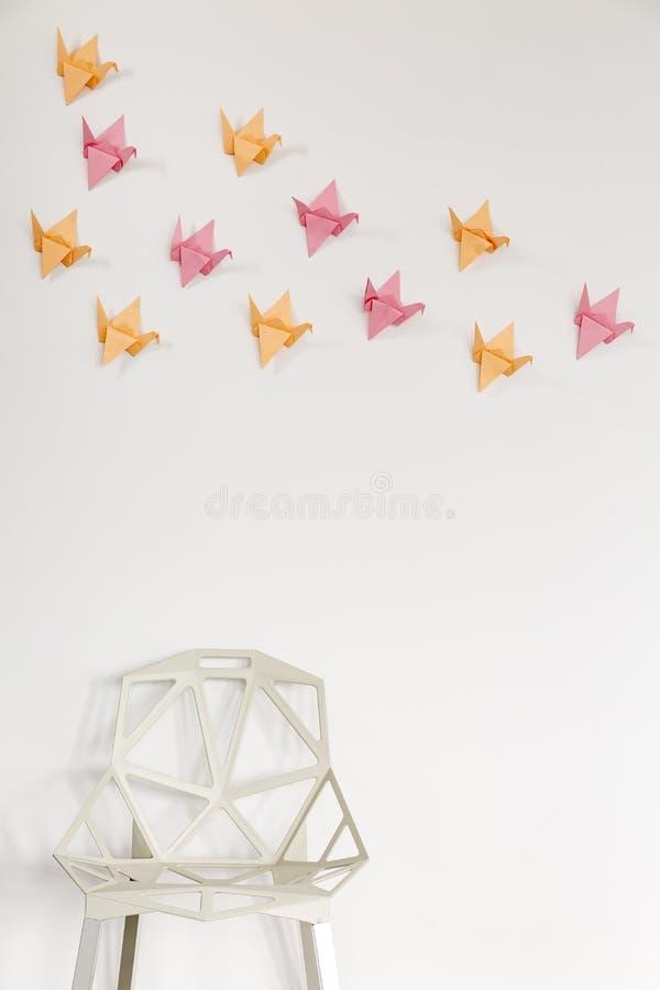 ideia da decoração da parede de 3D DIY fotografia de stock