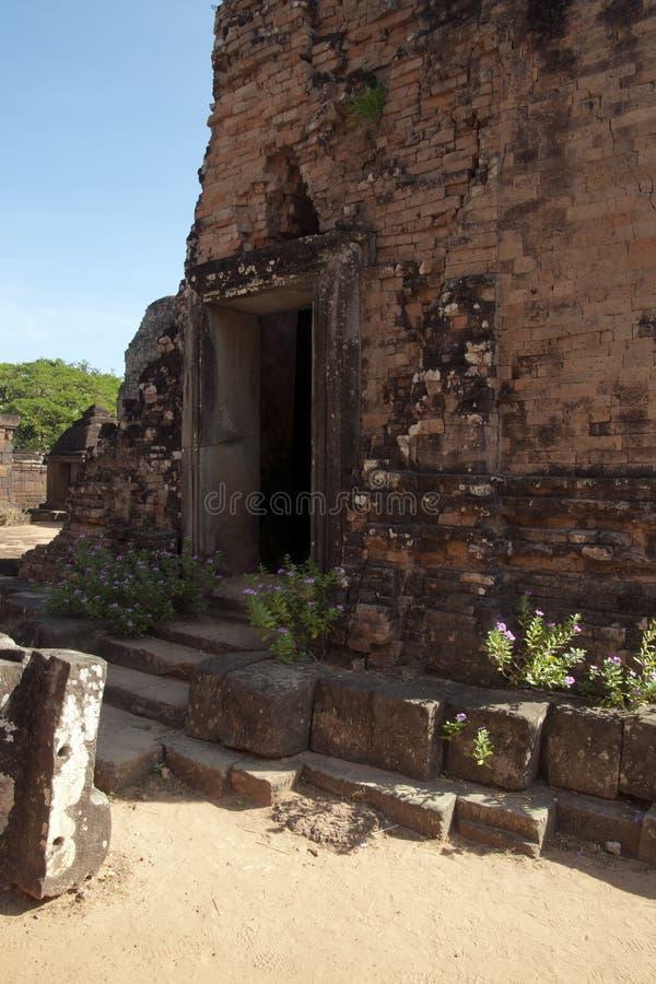 Ideia da entrada do templo pre em Rup um templo hindu do século X fotos de stock