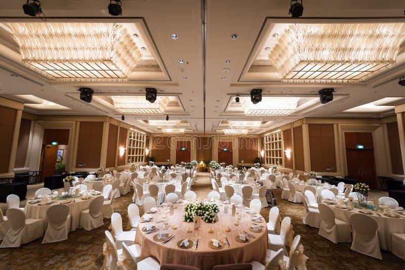 Ideia da instalação grande do banquete do casamento foto de stock royalty free