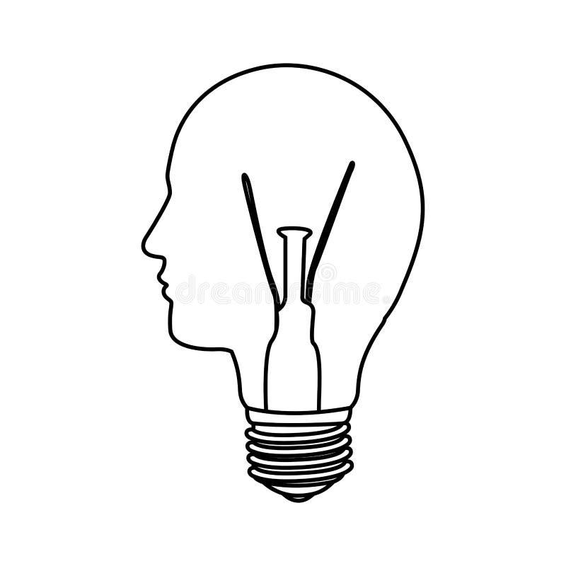 ideia da luz de bulbo da pessoa ilustração stock