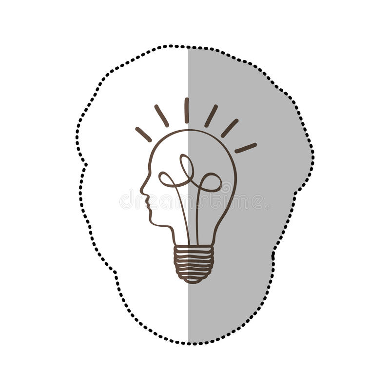 ideia da luz de bulbo da pessoa ilustração royalty free
