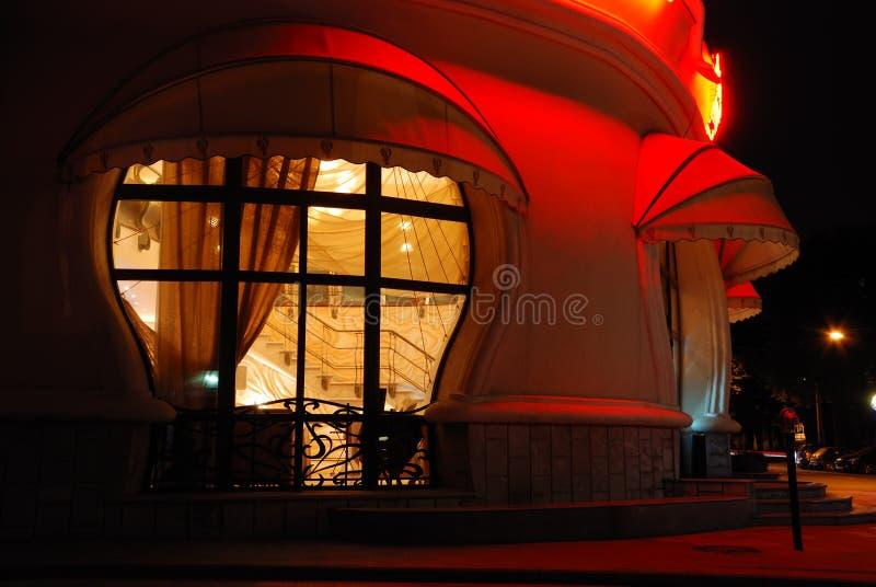 Ideia da noite do café e do interior imagem de stock royalty free