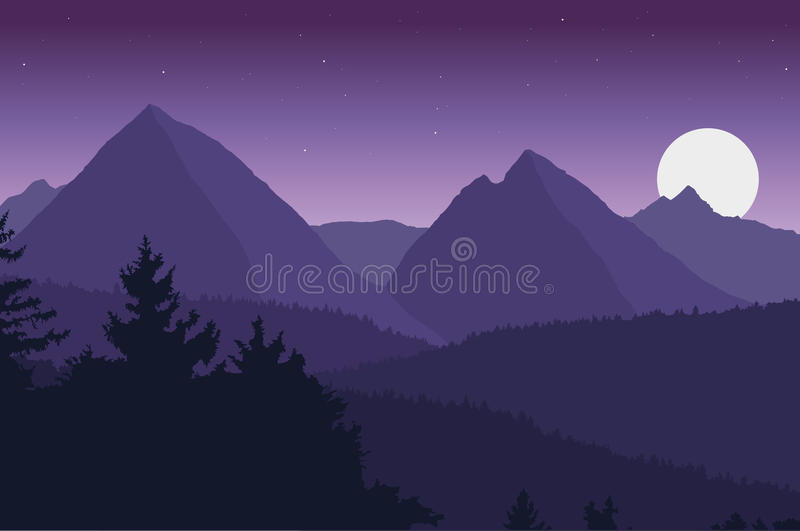 Ideia da paisagem da montanha ilustração stock
