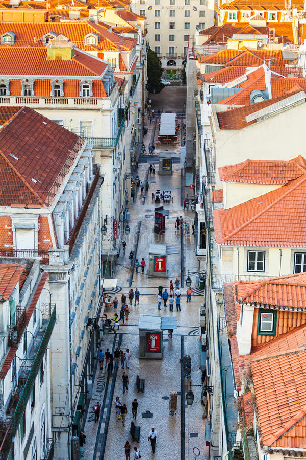 Ideia da parte central Lisboa de cima de, Portugal fotos de stock