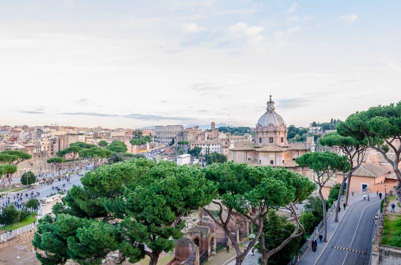 Ideia da parte histórica velha de Roma fotografia de stock royalty free