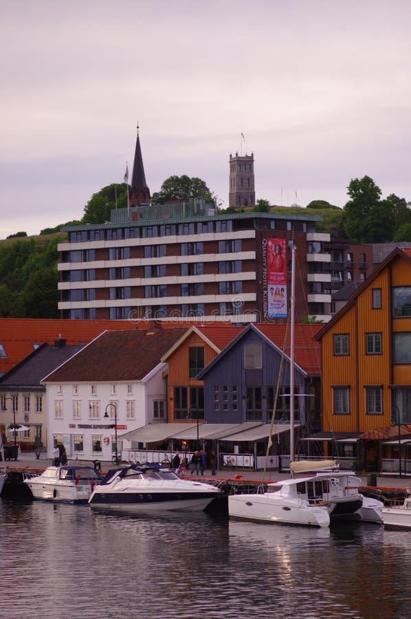 Ideia da peça industrial e histórica da cidade em Gothenburg fotografia de stock