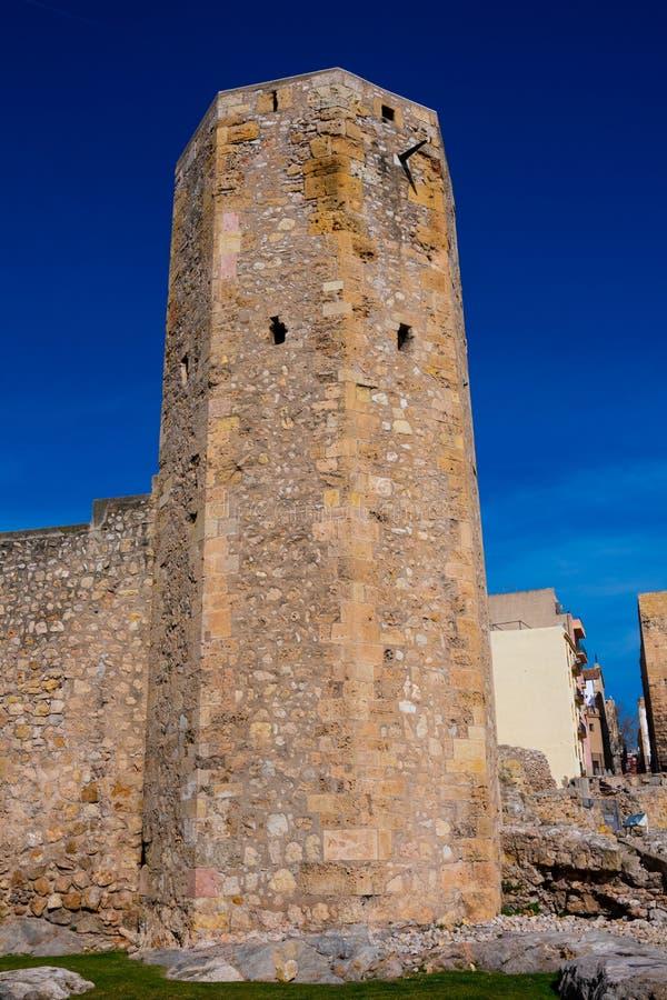 Ideia da peça da torre de Roman Circus de Tarraco fotografia de stock royalty free