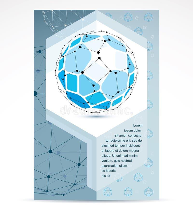 Ideia da promoção do negócio das inovações de Digitas, página principal do folheto ilustração stock