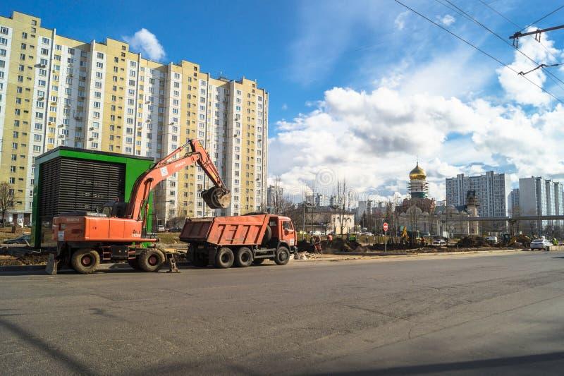 Ideia da reconstrução de Michurinsky Prospekt perto do ` de Ramenki do ` da estação de metro, Moscou fotos de stock