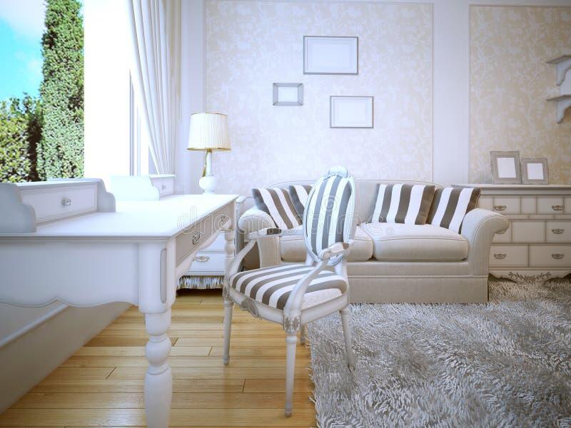 Ideia da sala de estar de provence ilustração do vetor