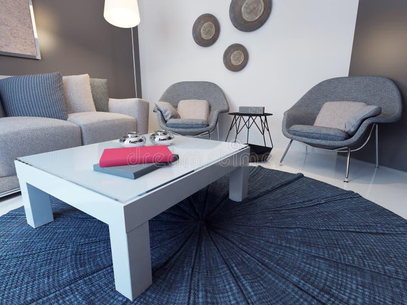Ideia da sala de estar minimalista ilustração royalty free
