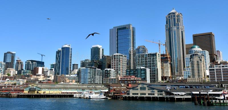 Ideia da skyline de seattle imagens de stock royalty free