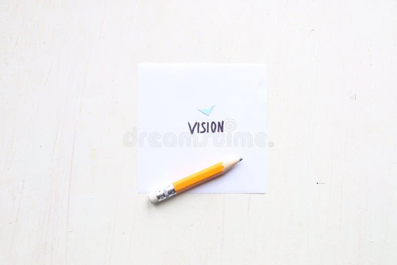 Ideia da visão do negócio, rotulação da palavra fotografia de stock royalty free
