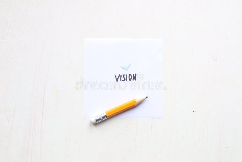 Ideia da visão do negócio, rotulação da palavra imagem de stock royalty free
