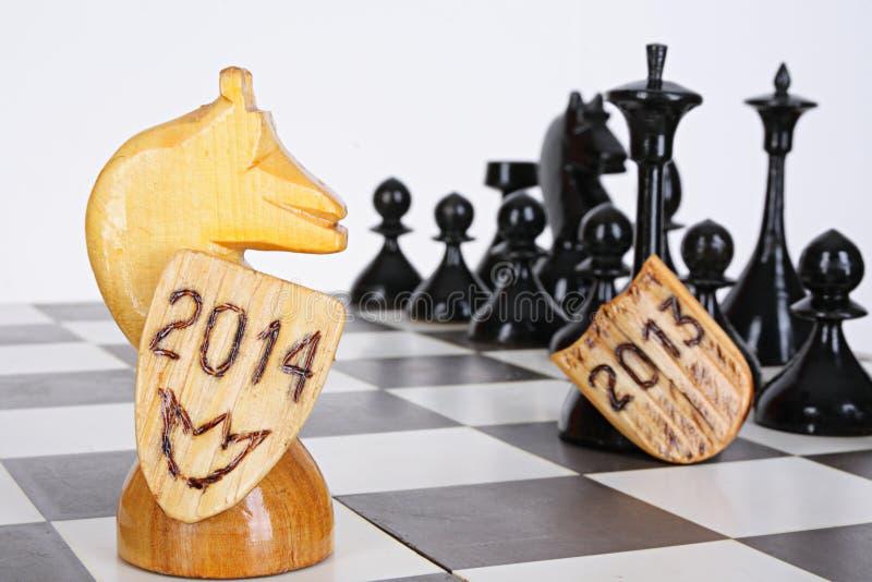 Ideia da xadrez fotografia de stock